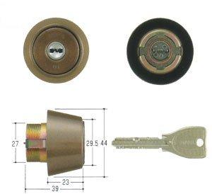MIWA(美和ロック) PRシリンダー BHタイプ 鍵 交換 取替え MCY-224 BH/LD/DZセラミックブロンズ色(CB)33〜41mm