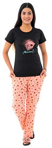 Duchess Women's Printed Cotton Top and Printed Pyjama Night Wear...