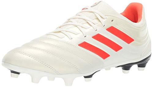 adidas Men's Copa 19.3 Firm Ground, Off White/Solar red/Black, 10.5 M US