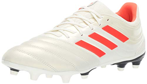 adidas Men's Copa 19.3 Firm Ground, Off White/Solar red/Black, 9 M US