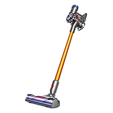 Dyson V8 Absolute Cordless HEPA Vacuum Cleaner + Fluffy Soft Roller and Direct Drive Cleaner Head + Wand Set + Mini Motorized Tool + Dusting Brush + Docking Station + Combination Tool + Crevice Tool