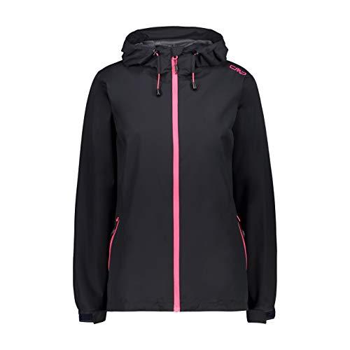 CMP Damen Windproof and Waterproof rain Jacket WP 10.000 Regenjacke, Anthracite-Gloss, D36
