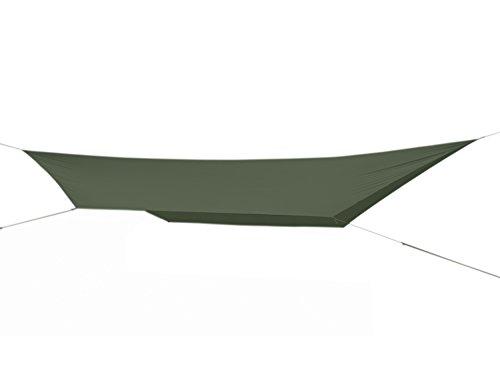 Fibega SilNylon Hammock Tarp 480cm x 280cm, Sechseck-Form, für Hängematten Schläfer - Olive