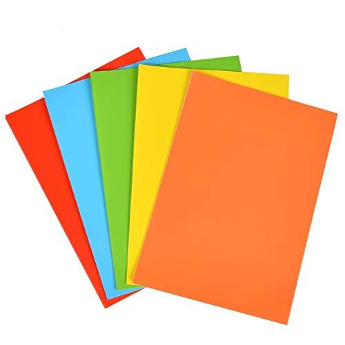 WOWOSS 50 Hojas de Papel de Color Autoadhesivo A4 297 * 210...