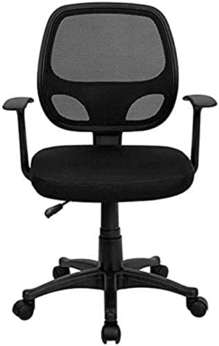 Silla para juegos MHIBAX, silla deoficina, muebles másbonitos, respaldomedio, silla de computadora de malla negra, silla de escritorio para tareas, silla de oficina ergo