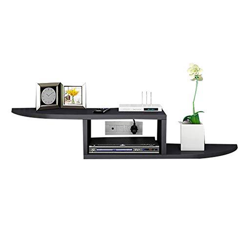Brooke shop Mueble de TV flotante, estante de almacenamiento abierto para consola de juegos, estante para muebles de sala, soporte para caja de cable/D / 120×20×12cm