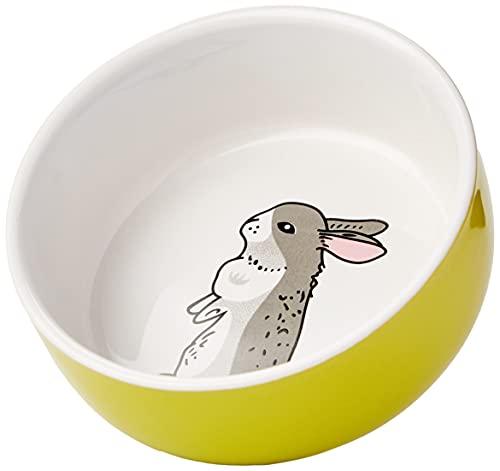 Nobby Nager Keramik Napf 'Rabbit' grün/weiß Ø 11cm x 4,5 cm