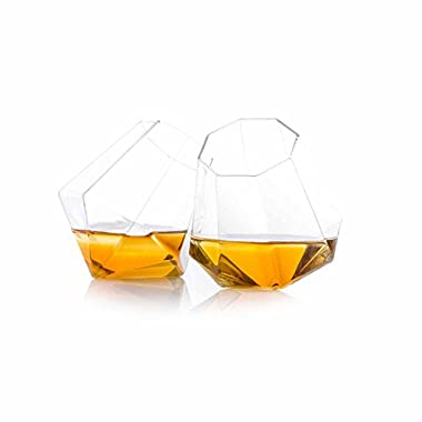 Thumbsup UK, Diamond Glass, Clear, Set of 2