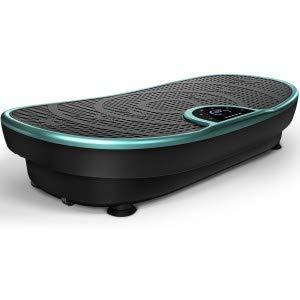 Novità Fiera VP250 Pedana Vibrante Curved Slim Design elegante | Consumo grassi & Formazione muscolare | Motore silenzioso 180 livelli | 7+1 Prgrammi di allenamento | Bluetooth (Bianco alt 2019)