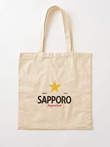 Generico Japanese Saporo Sapporo Vintage Beer Japan   Borse per la spesa con manici in cotone resistente