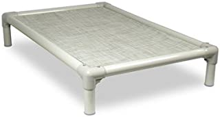 Kuranda Dog Bed - Chewproof Design - Almond PVC - Indoor/Outdoor - Elevated - High Strength PVC - Easy to Clean - Water Proof - Breathability - Vinyl Weave Fabric