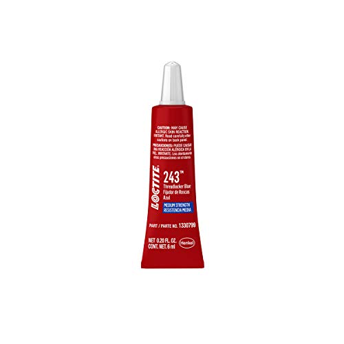 Loctite 1330799 Threadlocker 243 Surface Insensitive-Medium Strength Tube, Blue, 6-ml $5.99