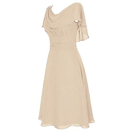 Blingko Damen Große Größen Abendkleider Lang Elegant mit ärmeln Rüschen Party Cocktail Kleid Ballkleid