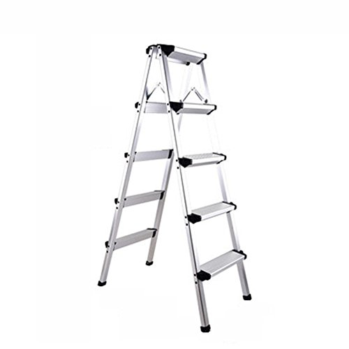 CAIJUN Plegable Escalera Aleación De Aluminio Venta Al por Mayor Multifunción Plegable La Seguridad Ligero Antideslizante, Escalera DE 2, 3, 4, 5 Escalones Doble Uso