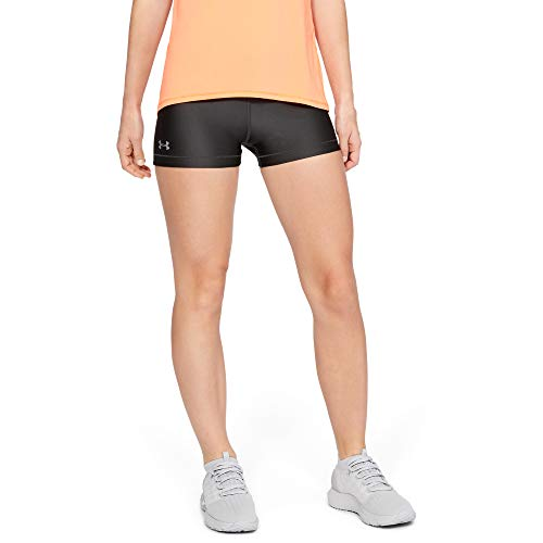 Under Armour Damen Heatgear Armour Shorty Kurze Hose, Grau (Grey), Medium