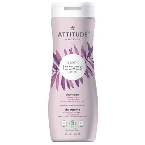 Product Image of the ATTITUDE Super Leaves, Hypoallergenic Moisture Rich Shampoo, Quinoa & Jojoba, 16...