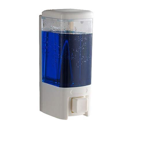 QARYYQ Zeepdispenser, 480 ml wand-desinfectiemiddel-shampoo-fles voor handmontage, UNO of Duo-zeepdoos voor hotelkeuken zeepdispenser