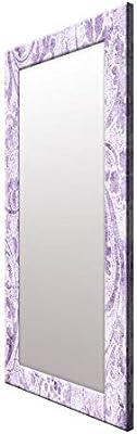 999Store Printed Violet Flowers Pattern Mirror
