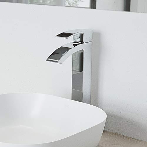 Product Image of the VIGO VG03007CH 12' H Duris Chrome Single-Handle Single Hole Vessel Deck-Mount WaterSense Bathroom Sink Faucet