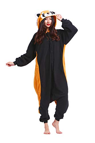 Pigiama Animati Costume Kigurumi Red Panda Animale Cosplay da Adulto Unisex