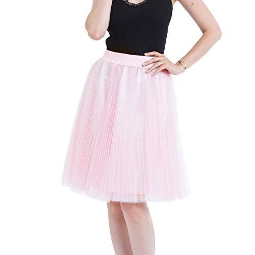 Makalon korte rok voor dames van chiffon bruidsmeisjes en prinses plissé