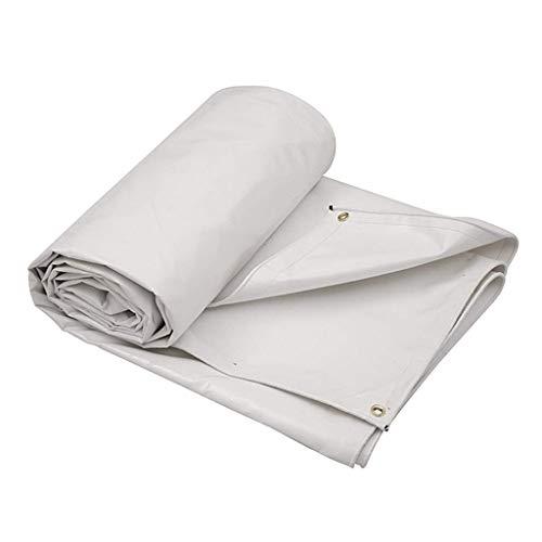 CHUTD afdekzeil, hoogwaardig PVC-zeil, schaduwstof-vrachtwagen buiten, winddicht regenbestendig doek, autozeil, regenbestendig hal, camping-tent (kleur: wit, maat: 4 * 3M) 4*3M wit
