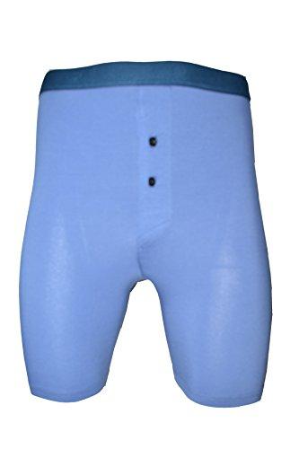 Boxeurs de coton hommes jambe longue superbe de qualité(1150 button fly) (grand (large), bleu indigo(indigo blue))