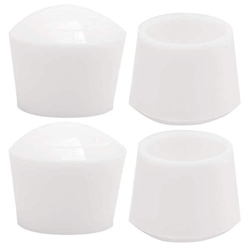 4 piezas tapas de piernas puntas 25 mm 1 pulgada antideslizante muebles de goma cubierta de pies de mesa protector de suelo reducir el ruido evitar arañazos blanco