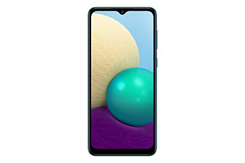 "Samsung Galaxy A02 4G LTE Unlocked Global Volte (64GB, 3GB) 6.5"" Dual Camera Dual Sim (At&t Tmobile Metro Latin Europe) (No for Verizon Boost) International Model SM-A022M/DS (Blue)"