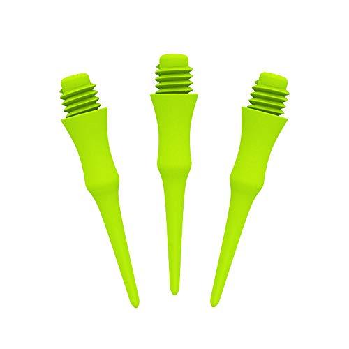 CyeeLife Professionelle Softdarts Spitzen, Soft Tips 2BA Gewinde (CL18 Stil),4 Farben verfügbar (Grün, 500Stück)