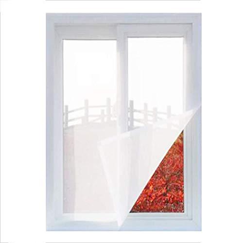 Ezoon DIY Sicherheitsnetz für Katzen, Fliegengitter, Fensternetz, Vollrahmen, Kätzchenschutznetz, selbstklebend, Weiß