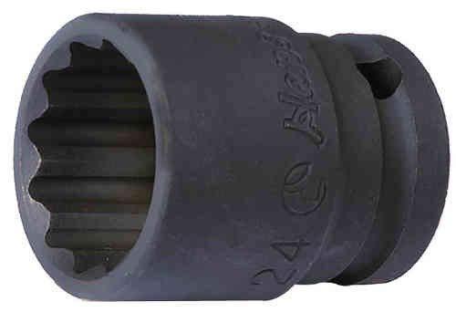 Preisvergleich Produktbild Hans 1 / 2 Zoll Kraft-Steckschlüssel-Einsatz / Schlagschrauber-Nuss / Steck-Nuss / Kraft-Nuss / 30mm,  12-kant,  Länge=44mm