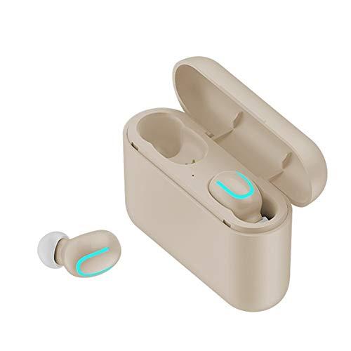 Zoe home Auriculares Bluetooth Wireless TWS Blutooth 5.0 Auricular sin Manos del Auricular del Auricular for Juegos Deportivos Auriculares de teléfono (Color : X9 Yellow)
