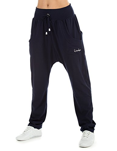 WINSHAPE Damen Unisex 4Pocket Pants WH13 Trainingshose Dance Yoga Pilates Freizeit Sport, Night-Blue, M