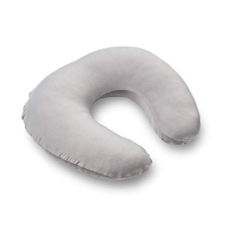 Doomoo Almohada de lactancia compacta de fibra suave – Cojín de lactancia multifuncional con relleno de fibra y funda de bambú hipoalergénica – Almohada cómoda para dormir, lactancia y apoyo