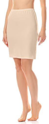 Merry Style Damen Unterrock Petticoat für Röcke MS10-204 (Beige, S)