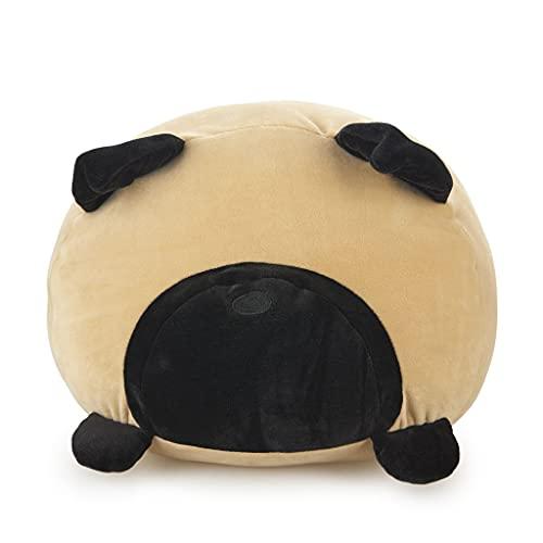 Balvi Cojín Carlin Color marrón Forma de Perro Suave y Muy Blando Poliéster