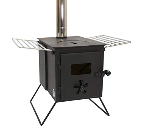 Outbacker® 'Firebox' Eco Burn – Sekundärbrennung tragbarer Zeltofen, Schwarz