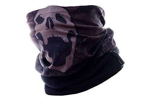 Hilltop Polar Halstuch, Multifunktionstuch, Kopftuch, Schlauchschal, Schal mit Fleece, Cooles Design in Trendfarben, für Damen und Herren, Farbe:Skull - 18