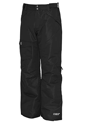 Special Blend - Winter Snow Pants - for Skiing, Snowboarding, Sledding, Outdoor Fun - for Men (Black, Large)
