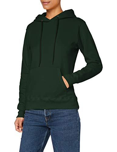 Fruit of the Loom Ss068m Sudadera para mujer, (Bottle verde), XS