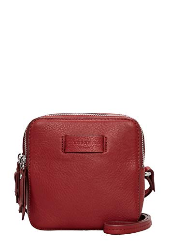 Liebeskind Berlin Damen Essential Crossbody Small Umhängetasche, Rot (Italian Red), 7x15x15 cm