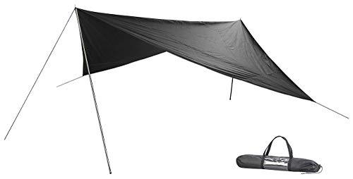 Semptec Urban Survival Technology Tarp: Leichtes und Robustes Outdoor-Sonnensegel, 3 x 3 m, mit Zubehör (Strandzelt)