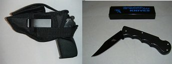 Smith & Wesson 6906 Gun Holster, New, Hunting, Law Inforcement, Security 307, Comes with a Free Folding Knife