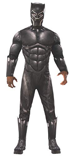 Rubie's Men's Marvel Avengers: Endgame Deluxe Black Panther and Mask Adult Sized Costumes, As Shown, Standard US