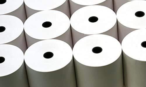 Rollos térmicos 80 mm x 70 mm x 12,7 mm 20 rollos adecuado para impresora Clover Station Pack of 4 - 80 Rolls