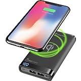 Cellularline FREEPMANTA8WIRK Freepower Manta - Cargador portátil inalámbrico de 8000 mAh