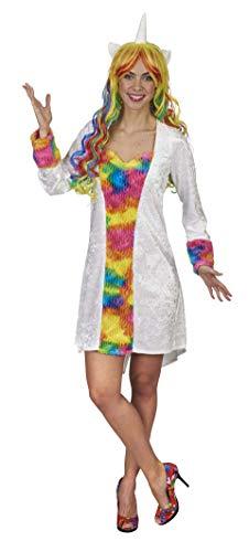 Andrea Moden 888 – 32/34 – Disfraz de unicornio, vestido, colores del arcoíris, animal, fiesta temática, carnaval.