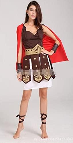 tggh Disfraces de guerrero romano antiguo disfraces de fiesta de disfraces de caballero gladiadores Julius César adulto Cosplay Tema pareja Cotume (color: NO 2 mujeres, tamaño: talla única)