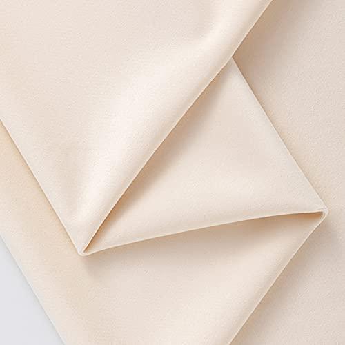 FFJD Telas Costura- Tela De Terciopelo De Estiramiento para Disfraces Y Creación, 90% Poliéster 10% Spandex, (Color:Blanquecino)